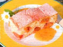 Biscuit moelleux aux nectarines