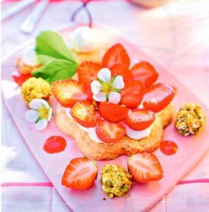 Grand sable aux fraises