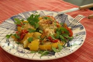 Lotte aux poivrons et au citron recette testee